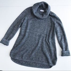 Calvin Klein Cowl Neck Cable Knit Sweater
